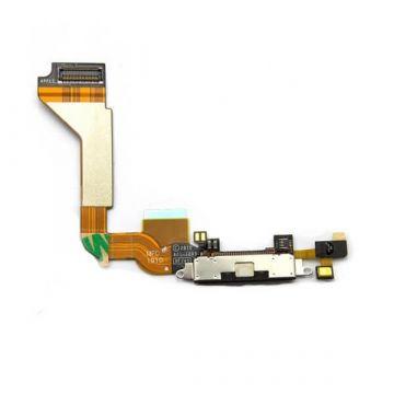 Dock oplaadconnector voor iPhone 4 zwart  Onderdelen iPhone 4 - 1