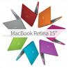 "Superbe Coque de protection intégrale rigide pour MacBook Retina 15"" A1398"
