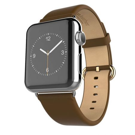 Hoco brown leather Apple Watch 40mm & 38mm bracelet with adapters Hoco Straps Apple Watch 38mm - 1