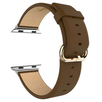 Hoco brown leather Apple Watch 40mm & 38mm bracelet with adapters Hoco Straps Apple Watch 38mm - 4
