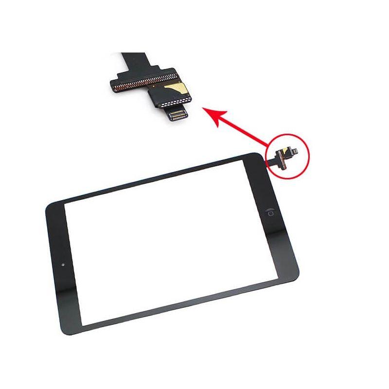 Achat Vitre tactile de haute qualité Noir avec connecteur pour iPad Mini 1 et 2 PADMI-025