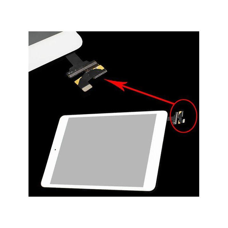 Achat Vitre tactile haute qualité Blanc avec connecteur pour iPad Mini 1 et 2 PADMI-026