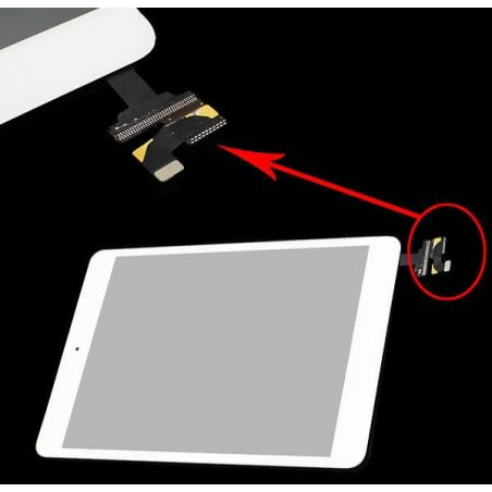 High quality touch panel White with connector for iPad Mini 1 and 2  Screens - LCD iPad Mini - 1