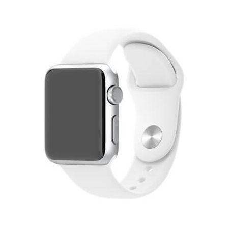 White Apple Watch 40mm & 38mm Strap  Straps Apple Watch 38mm - 1