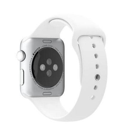 White Apple Watch 40mm & 38mm Strap  Straps Apple Watch 38mm - 2
