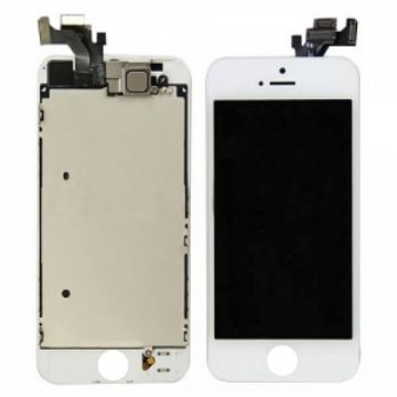 Original complete assembled Glass digitizer, LCD Retina Screen and Full Frame for iPhone 5 White  Screens - LCD iPhone 5 - 1