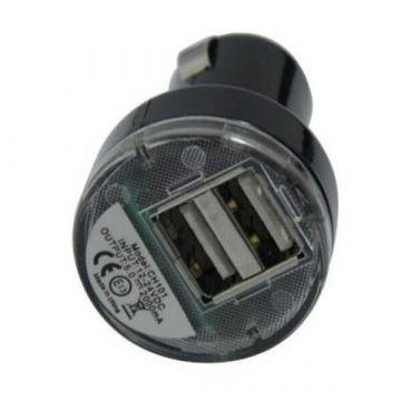 Achat Chargeur CE voiture noir double USB pour iPad iPhone iPod  CHA00-014