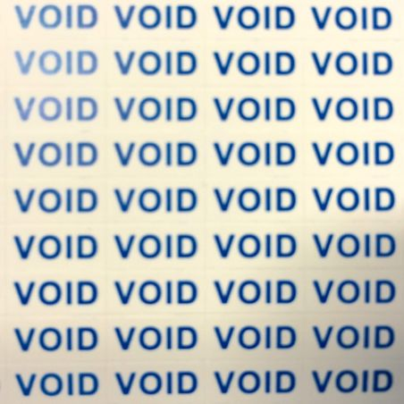 Pack of 300 VOID warranty stickers  Consumables - 1