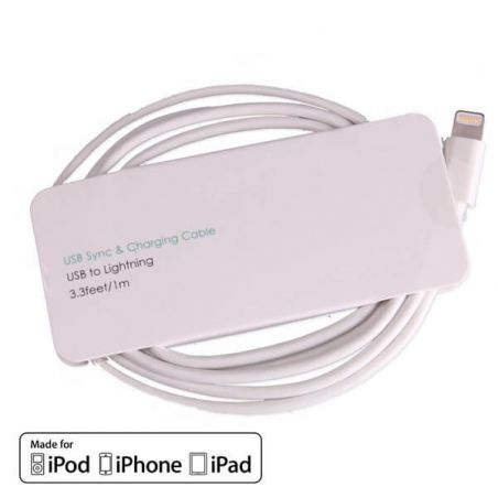 White Lightning cable certified Apple Made for iPhone (MFI)  Chargers - Powerbanks - Cables iPhone 5 - 1