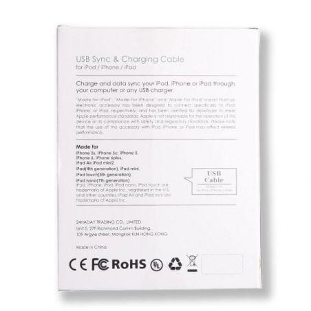 White Lightning Kabel zertifiziert Apple Made for iPhone (MFI)  Ladegeräte - Batterien externe - Kabel iPhone 5 - 3