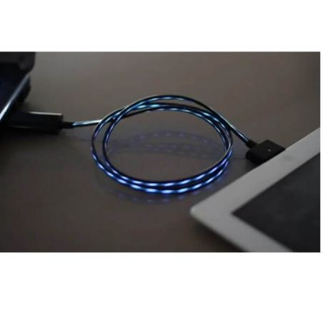 Achat Nouveau Cable lumineux USB noir pour IPhone IPad et IPod CHA00-021X