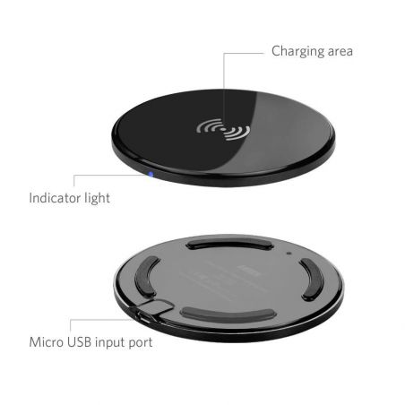 Round wireless charger  Chargers - Powerbanks - Cables iPhone 5 - 3