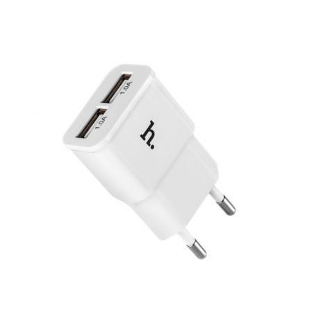 Double 1.0AMP USB charger - Hoco Hoco Chargers - Powerbanks - Cables iPhone 5C - 1