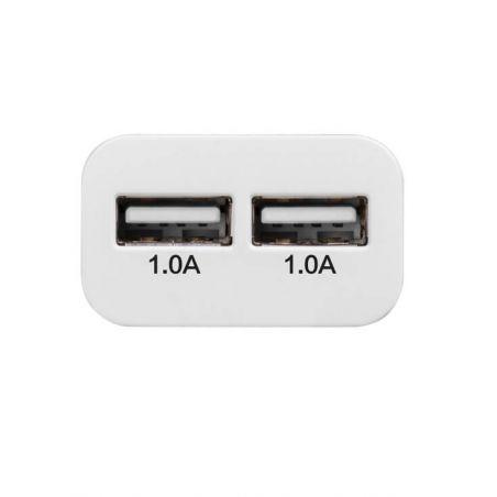 Hoco dubbele USB muurlader wit CE 1.0A Hoco laders - Batterijen externes - Kabels iPhone 5C - 3