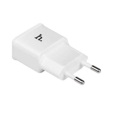Hoco dubbele USB muurlader wit CE 1.0A Hoco laders - Batterijen externes - Kabels iPhone 5C - 4