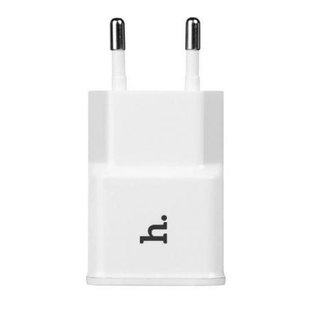 Hoco dubbele USB muurlader wit CE 1.0A Hoco laders - Batterijen externes - Kabels iPhone 5C - 7