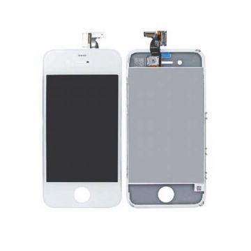 COMPLEET KIT: Touchscreen Glas Digitizer & LCD Scherm & kader & kader & achterkant glas eerste kwaliteit voor iPhone 4 Wit: Touc