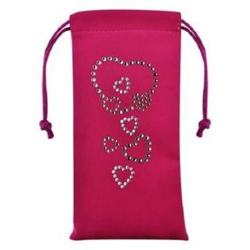 Swarovski Hearts Universele koffer met Swarovski Harten  Dekkingen et Scheepsrompen iPhone 4 - 2