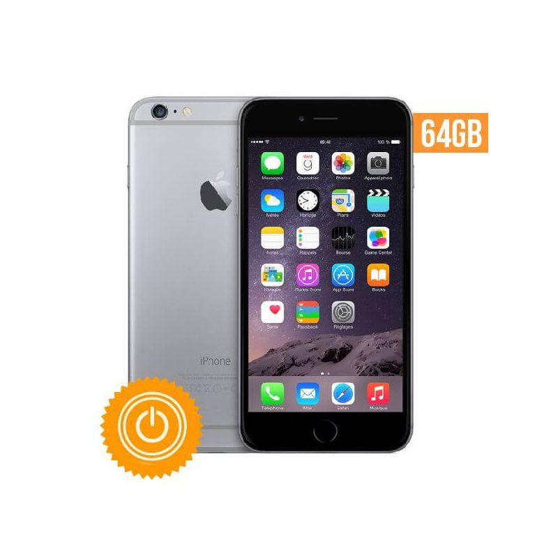 Achat iPhone 6 - 64 Go Gris sidéral reconditionné - Grade A IP-068