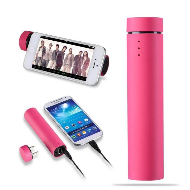 3 in 1 externer Akku - Lautsprecher, Stativ und Netzteil  Ladegeräte - Batterien externe - Kabel iPhone 5 - 9