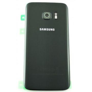 Coque arrière de remplacement noire originale Samsung S7 Edge