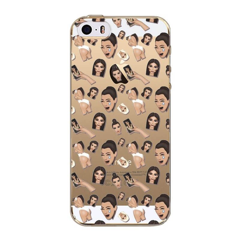 Achat Coque Kim Kardashian Emojis Modèle 1 iPhone 5/5S/SE - Housses et coques iPhone 5 - MacManiack