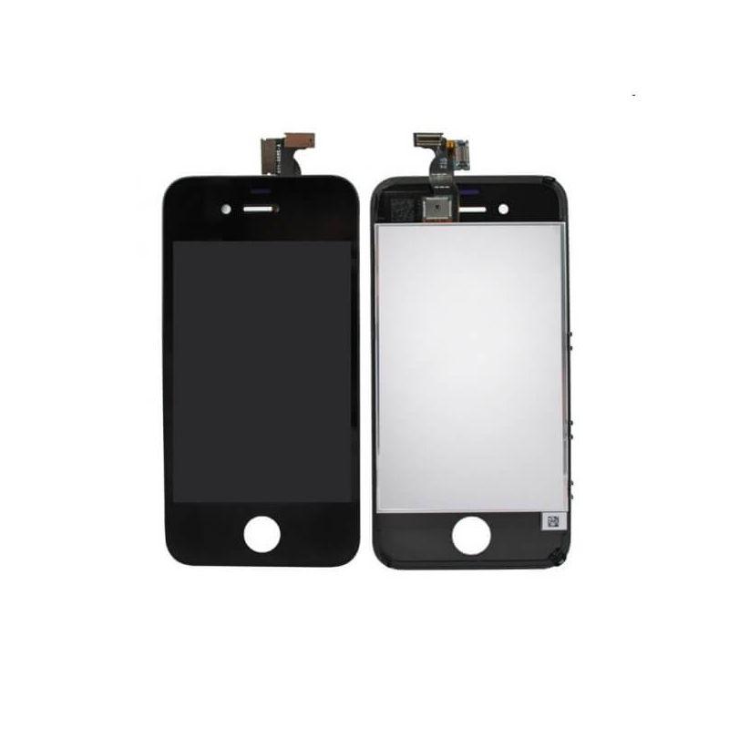 Aanraakscherm & LCD-scherm & compleet chassis voor iPhone 4 Zwart