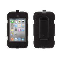 Unverwüstliche Überlebenstasche Schwarz für iPod Touch 4
