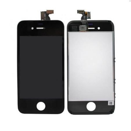 Achat KIT COMPLET première qualité: Vitre tactile, écran LCD, châssis et vitre arrière pour iPhone 4 Noir IPH4G-008X