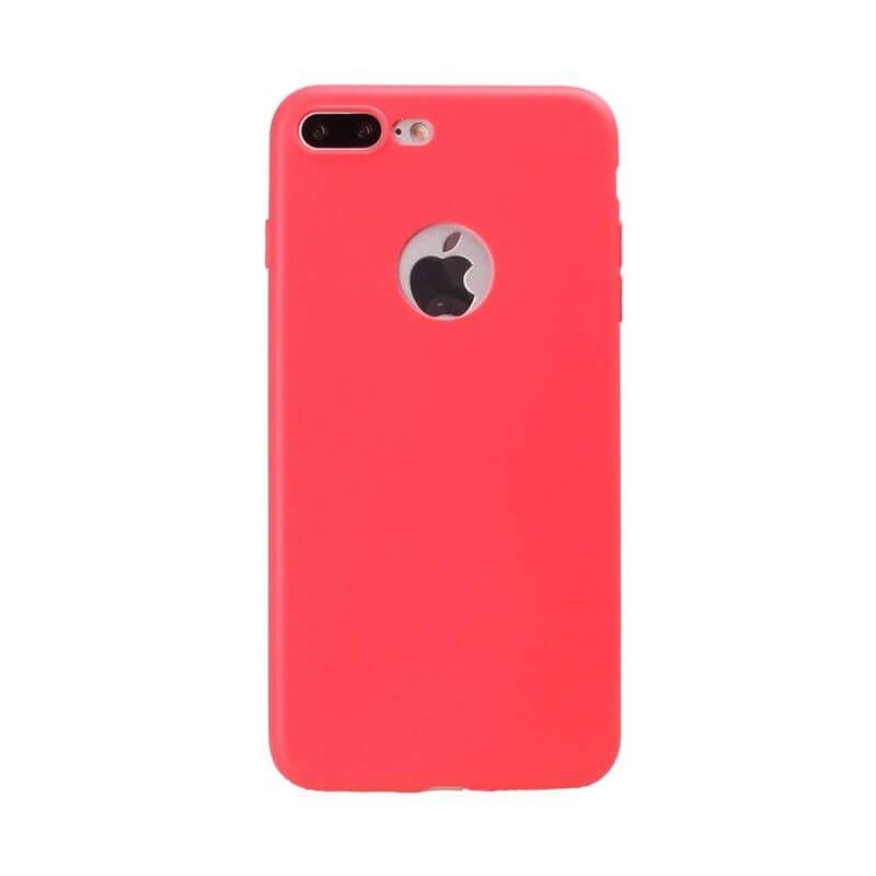 Silicone Case iPhone 7 Plus / iPhone 8 Plus - Coral Red