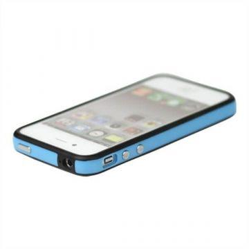 Bumper - Blauwe en zwarte rand in TPU IPhone 4 & 4S