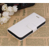 Etui portefeuille stand blanc iPhone 5/5S/SE