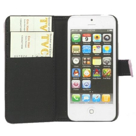 Wallet case white stand iPhone 5