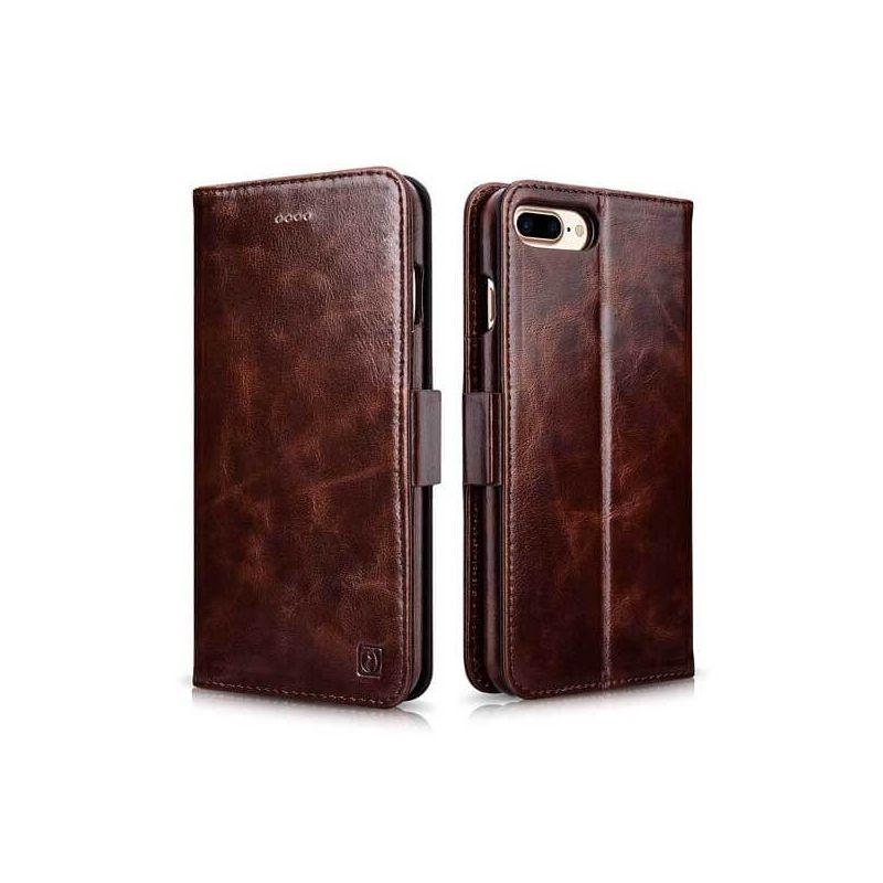 Achat Etui portefeuille en cuir iPhone 7 Plus / iPhone 8 Plus - Housses et coques iPhone 7 Plus - MacManiack