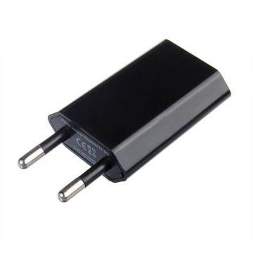 Schwarzes Netzteil USB iPhone iPod CE zertifiziert 1.0 Ampere  Ladegeräte - Batterien externe - Kabel iPhone 4 - 1