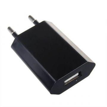 Schwarzes Netzteil USB iPhone iPod CE zertifiziert 1.0 Ampere  Ladegeräte - Batterien externe - Kabel iPhone 4 - 2