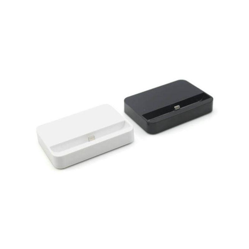 Zwart dockstation voor iPhone 5/5S/5C, iPhone 6/6S en 6plus/6S Plus.  Steunen en dokken iPhone 5 - 1