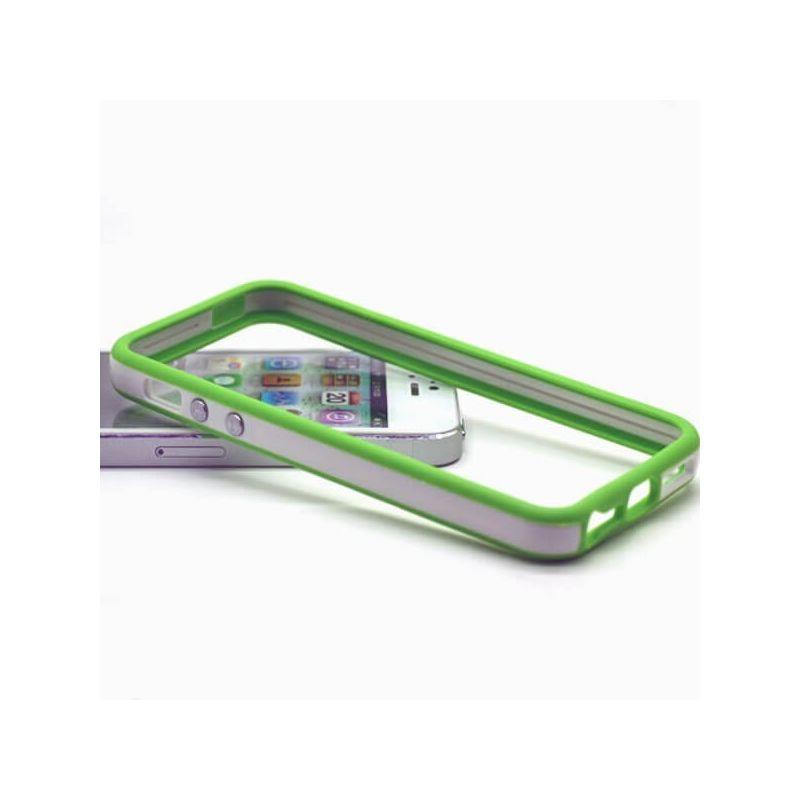 Achat Bumper - Contour TPU blanc et vert iPhone 5/5S/SE COQ5X-020X