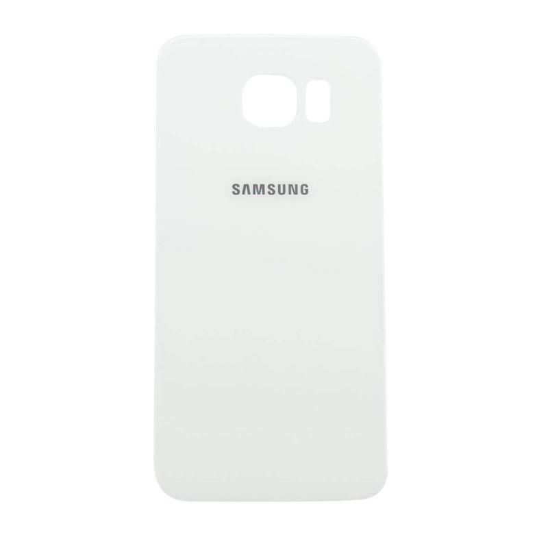 MacManiack - Vitre arrière BLANCHE Galaxy S6 Edge Officielle