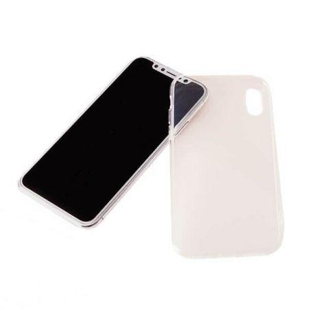 Dubbele TPU Case 360 Graden Cover 2 in 1 iPhone X Transparant