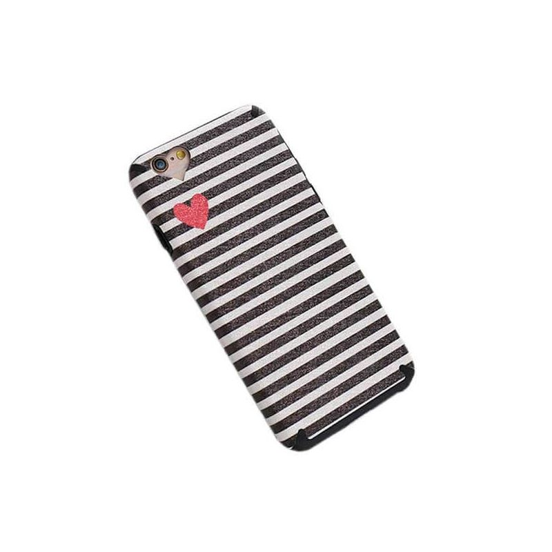 TPU Case Heart and Lines iPhone 7 / iPhone 8