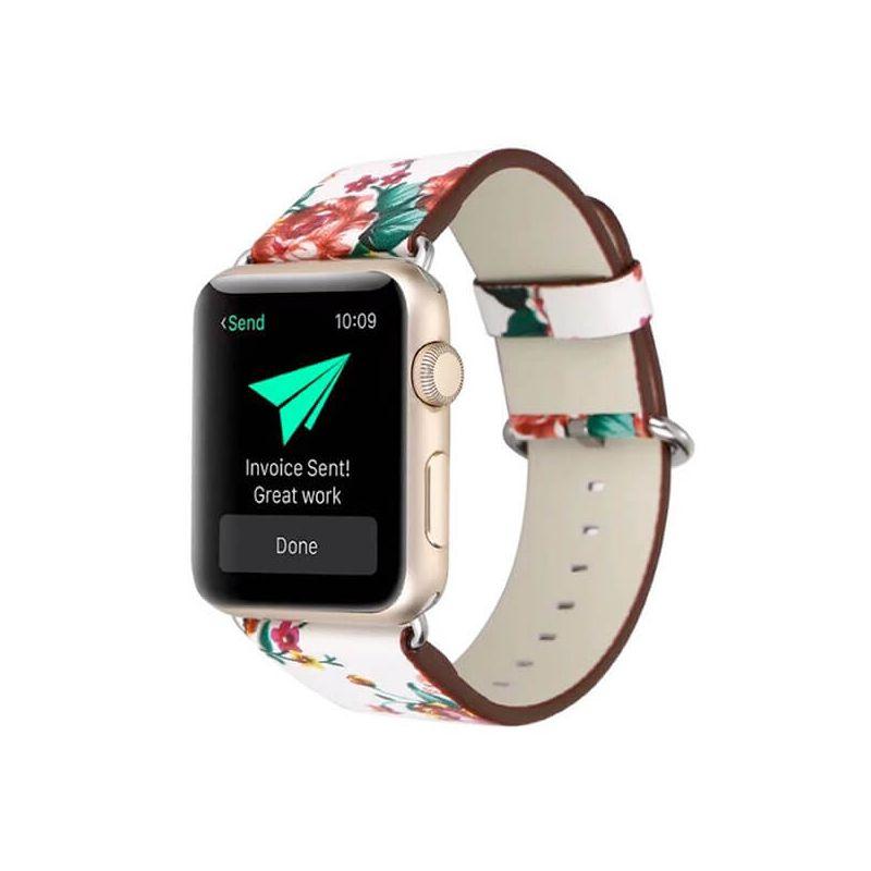 3 in 1 lederen bandje Hoco Birkin Style Apple Watch 3 in 1 lederen bandje 38mm