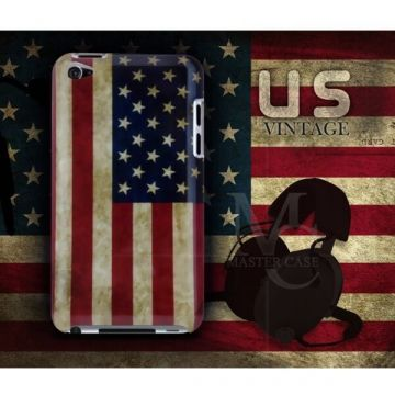 Amerikanische Flagge Hülle US Vintage iPod Touch 4