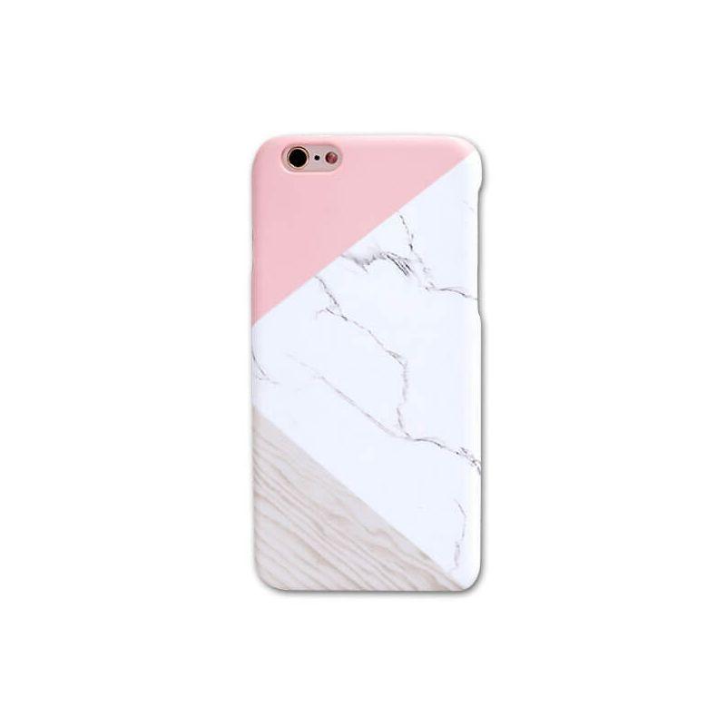 Achat Coque rigide Soft touch marbre géométrique iPhone 7 / iPhone 8/SE 2 - Housses et coques iPhone 7 - MacManiack