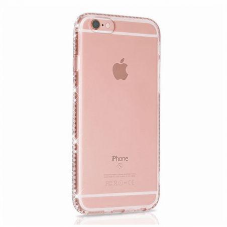 TPU soft case Transparent Edge in rhinestone iPhone 6 / 6S