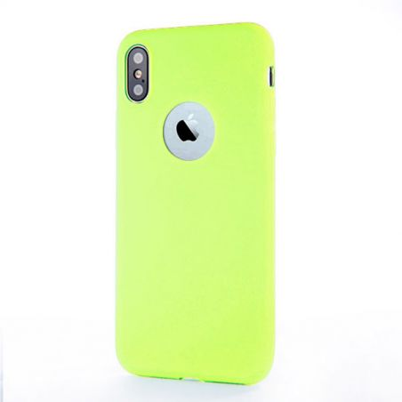 Coque Silicone iPhone X Xs - Vert Pomme