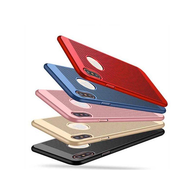 Harde microgeperforeerde behuizing  voor iPhone X Xs  Dekkingen et Scheepsrompen iPhone X - 1