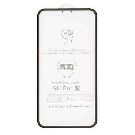 Achat Film en verre trempé incurvé 5D Premium iPhone X / Xs / 11 Pro IPHXG-014