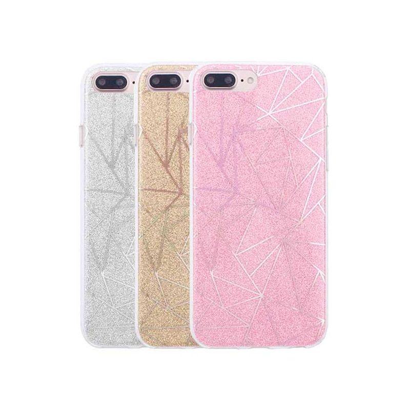 Achat Coque TPU paillettes et formes géométriques iPhone 6 / iPhone 6S - Housses et coques iPhone 6S - MacManiack