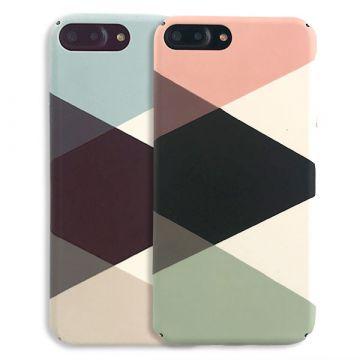 Coque rigide Soft touch géométrique iPhone 8 Plus / iPhone 7 Plus